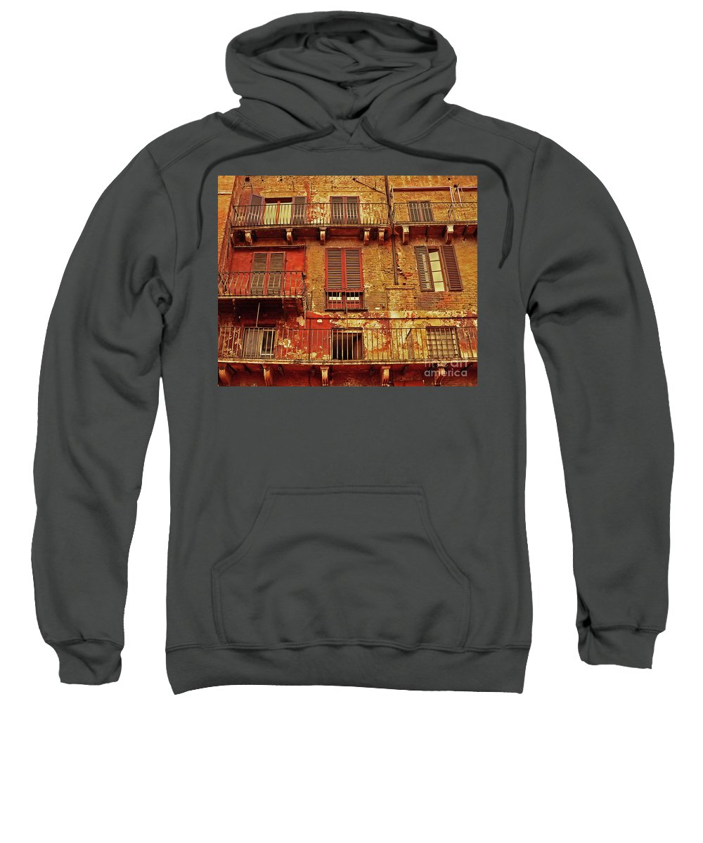 Window Sweatshirt featuring the photograph Windows With A View by Angela Wright