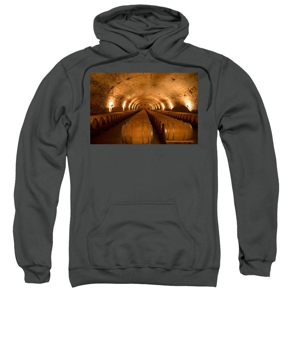 Wine Sweatshirt featuring the photograph Wine Cellar by Kent Nancollas