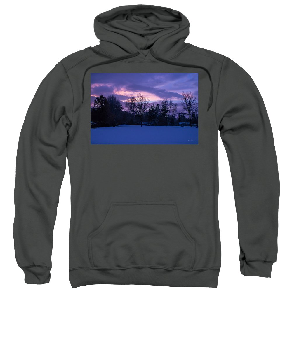 Winter Sweatshirt featuring the photograph Winter Evening In Grants Pass by Mick Anderson
