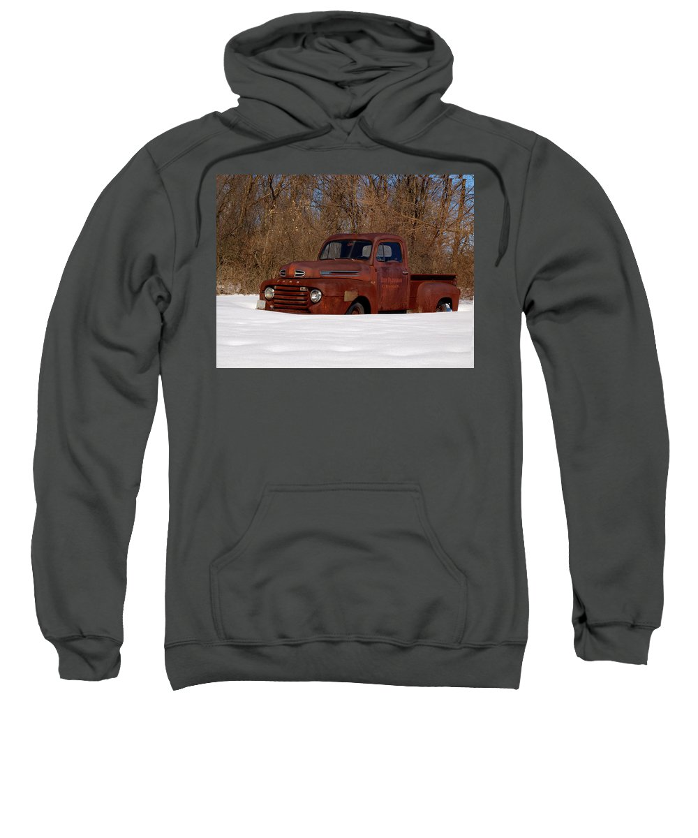 Ford Truck Sweatshirt featuring the photograph Winter Ford Truck 3 by Thomas Young
