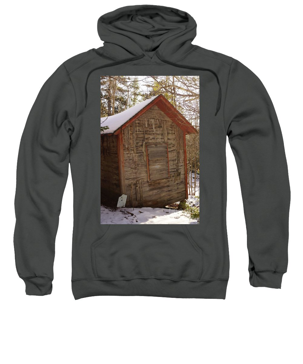 Barn Sweatshirt featuring the photograph Winter Home by Jeffery L Bowers