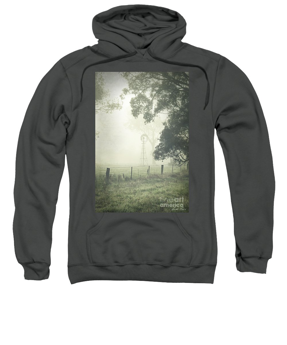 Winter Sweatshirt featuring the photograph Winter Morning Londrigan 9 by Linda Lees