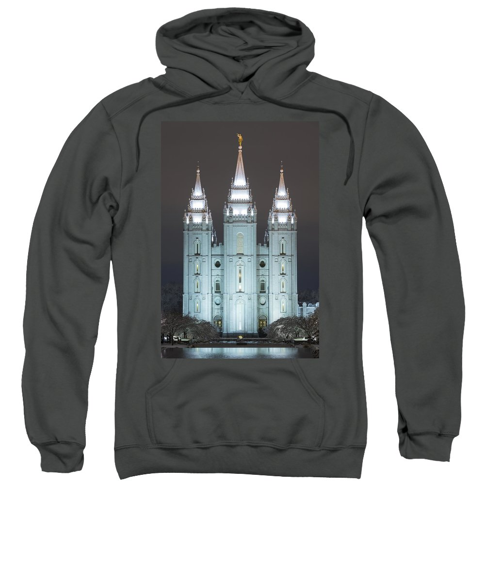 Utah Sweatshirt featuring the photograph Winter Reflection by Dustin LeFevre