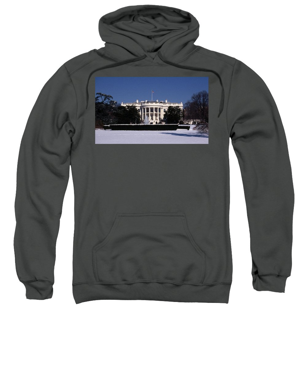 Washington Sweatshirt featuring the photograph Winter White House by Skip Willits