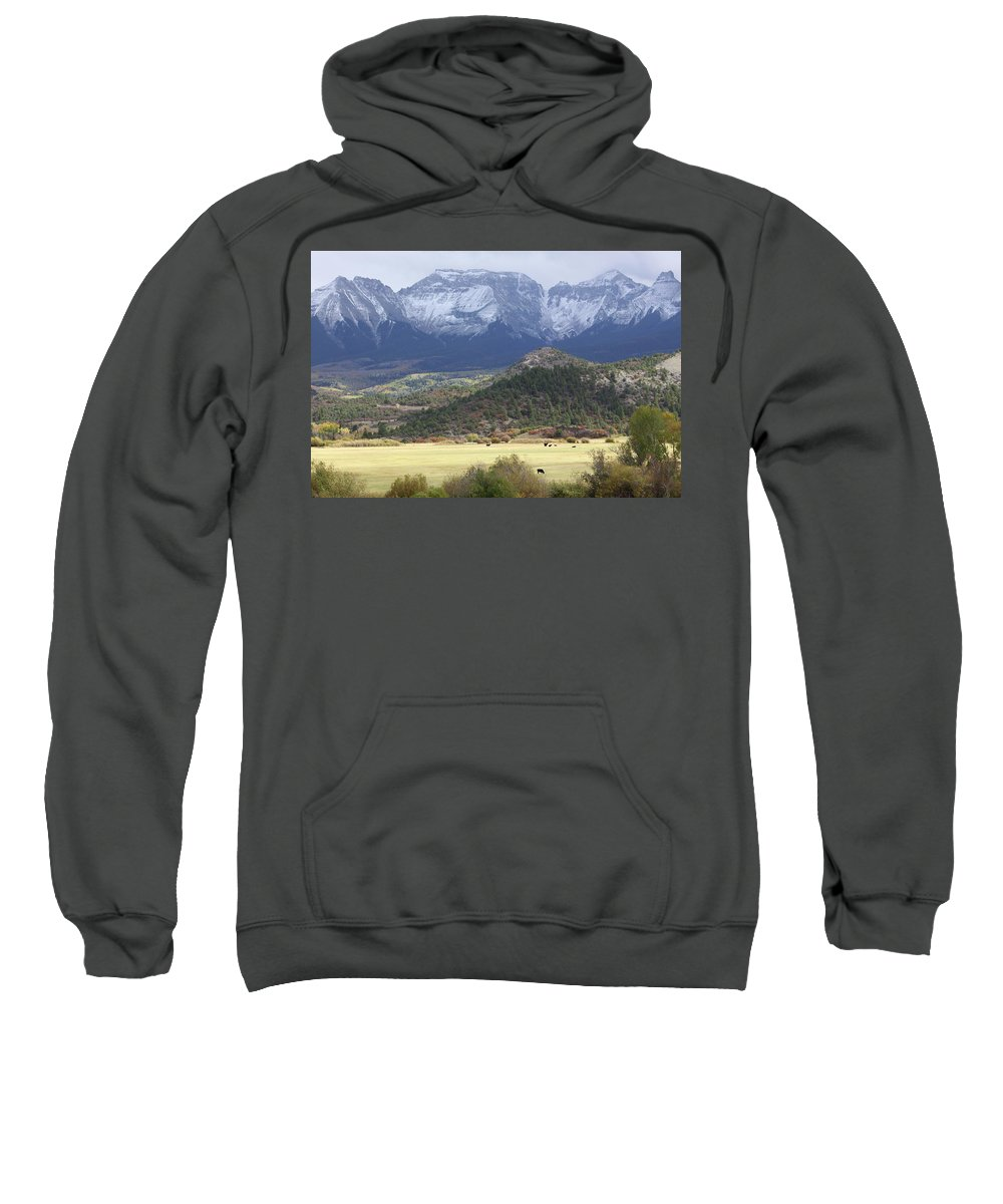 Autumn Sweatshirt featuring the photograph Winter's Coming by Eric Glaser