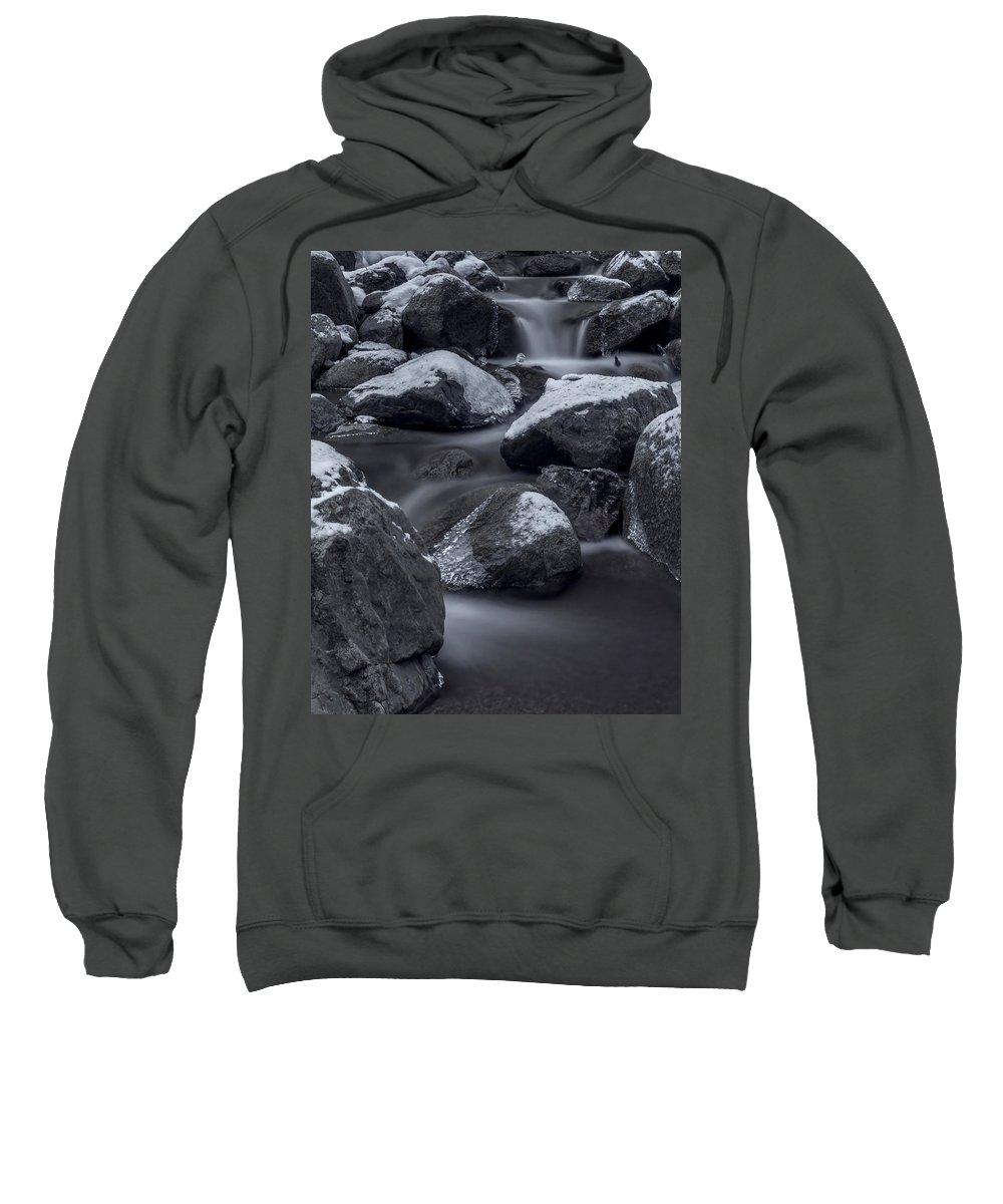 Creek Sweatshirt featuring the photograph Winters Flow 2 by Ernie Echols