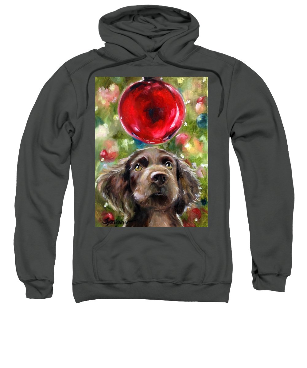 Boykin Spaniel Sweatshirt featuring the painting Wish by Mary Sparrow