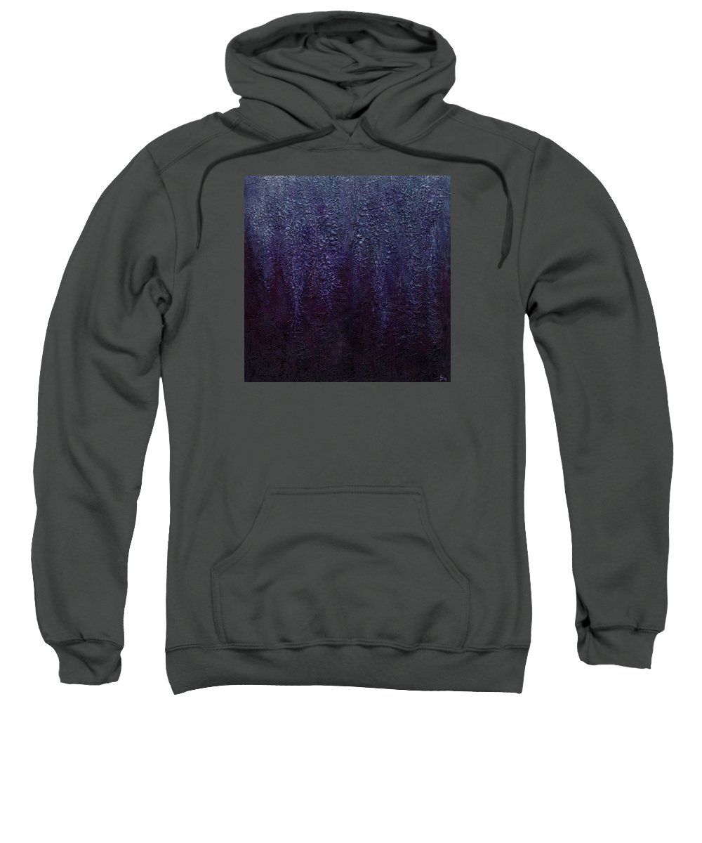 Art Sweatshirt featuring the painting Wisteria by Laura Teti