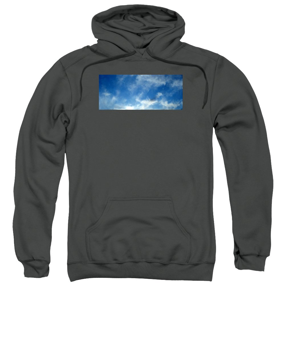 Clouds Sweatshirt featuring the painting Wistfulness In The Sky by Bruce Nutting