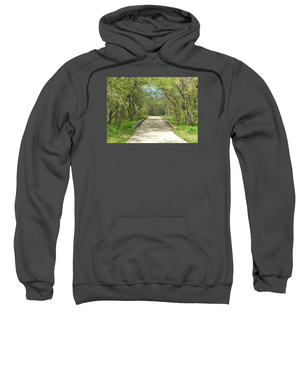 Paths Sweatshirt featuring the photograph Walking In The Park by Donna Wilson