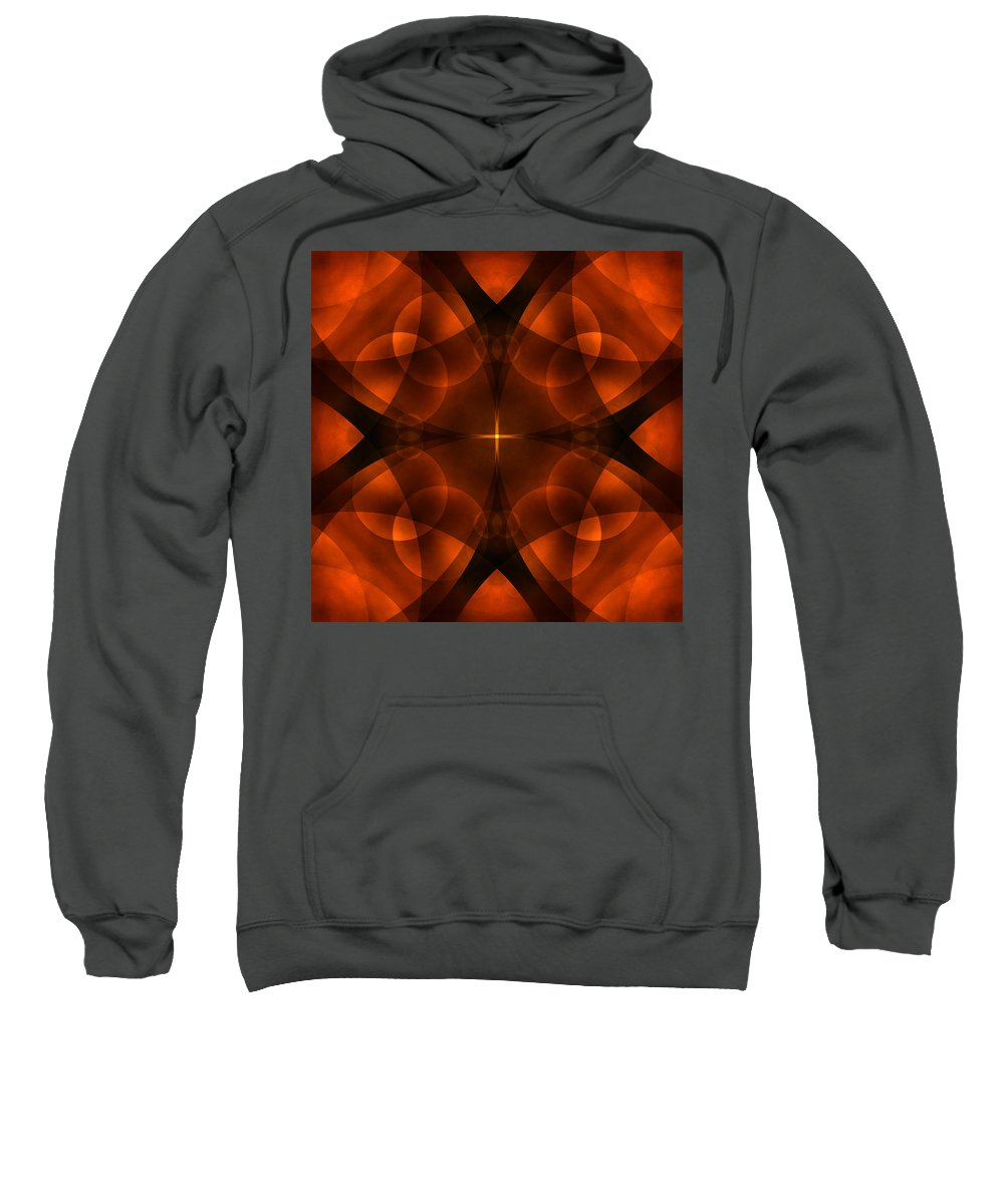 Abstract Sweatshirt featuring the photograph Worlds Collide 16 by Mike McGlothlen