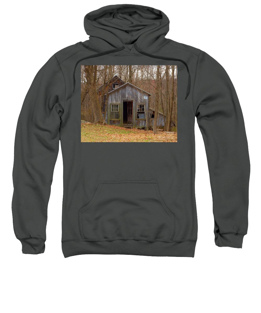 Shed Sweatshirt featuring the photograph Worn Out Shed by Ray Konopaske