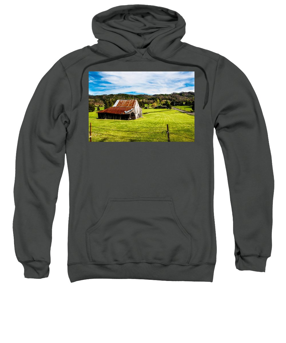 Landscape Sweatshirt featuring the photograph Wow - The Grass Is Greener On The Other Side by Robert L Jackson