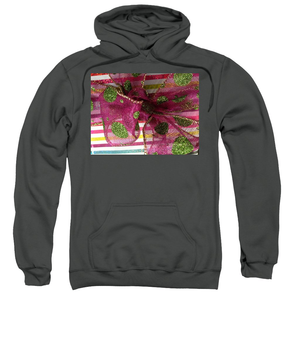 Optical Playground By Mp Ray Sweatshirt featuring the photograph Wrapped Up With A Bow by Optical Playground By MP Ray