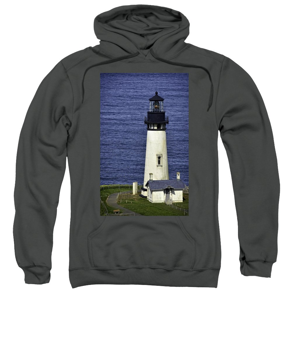 Newport Sweatshirt featuring the photograph Yaquina Head Lighthouse by Image Takers Photography LLC - Carol Haddon