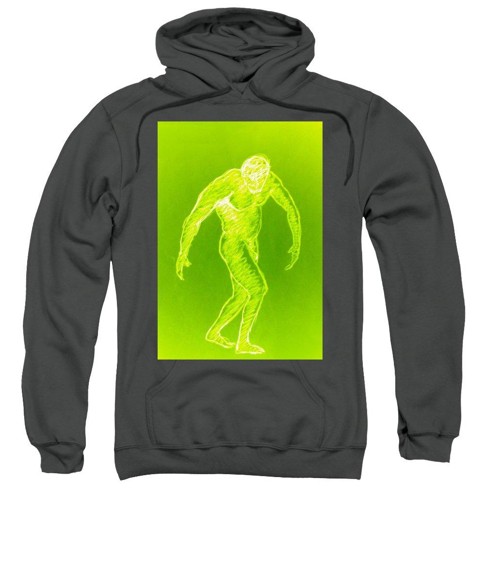 Genio Sweatshirt featuring the mixed media Yellow Croquis by Genio GgXpress