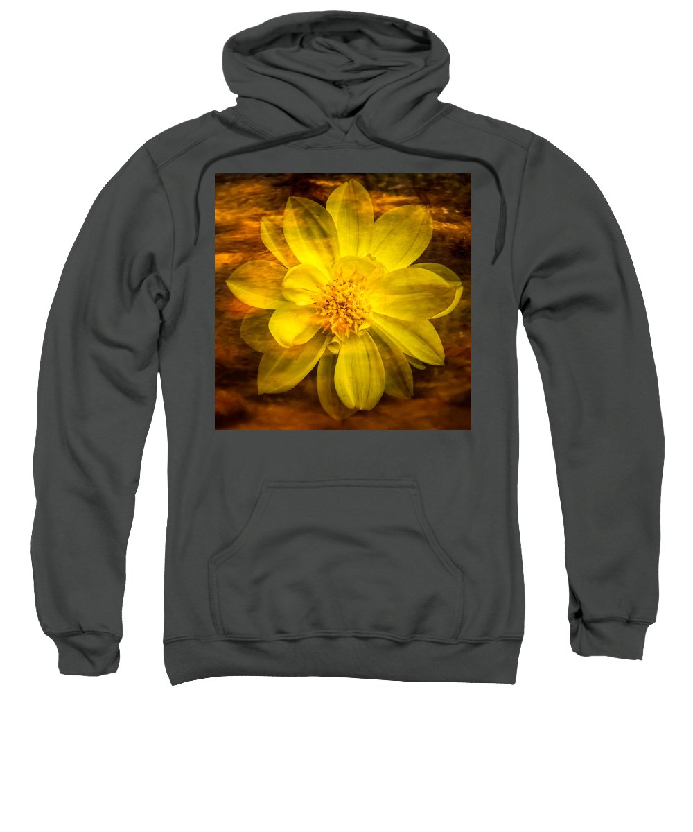 Claude Monet Sweatshirt featuring the photograph Yellow Dahlia Under Water by Onyonet Photo Studios