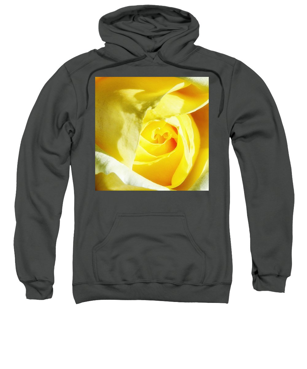 Rose Sweatshirt featuring the photograph Yellow Diamond Rose Palm Springs by William Dey
