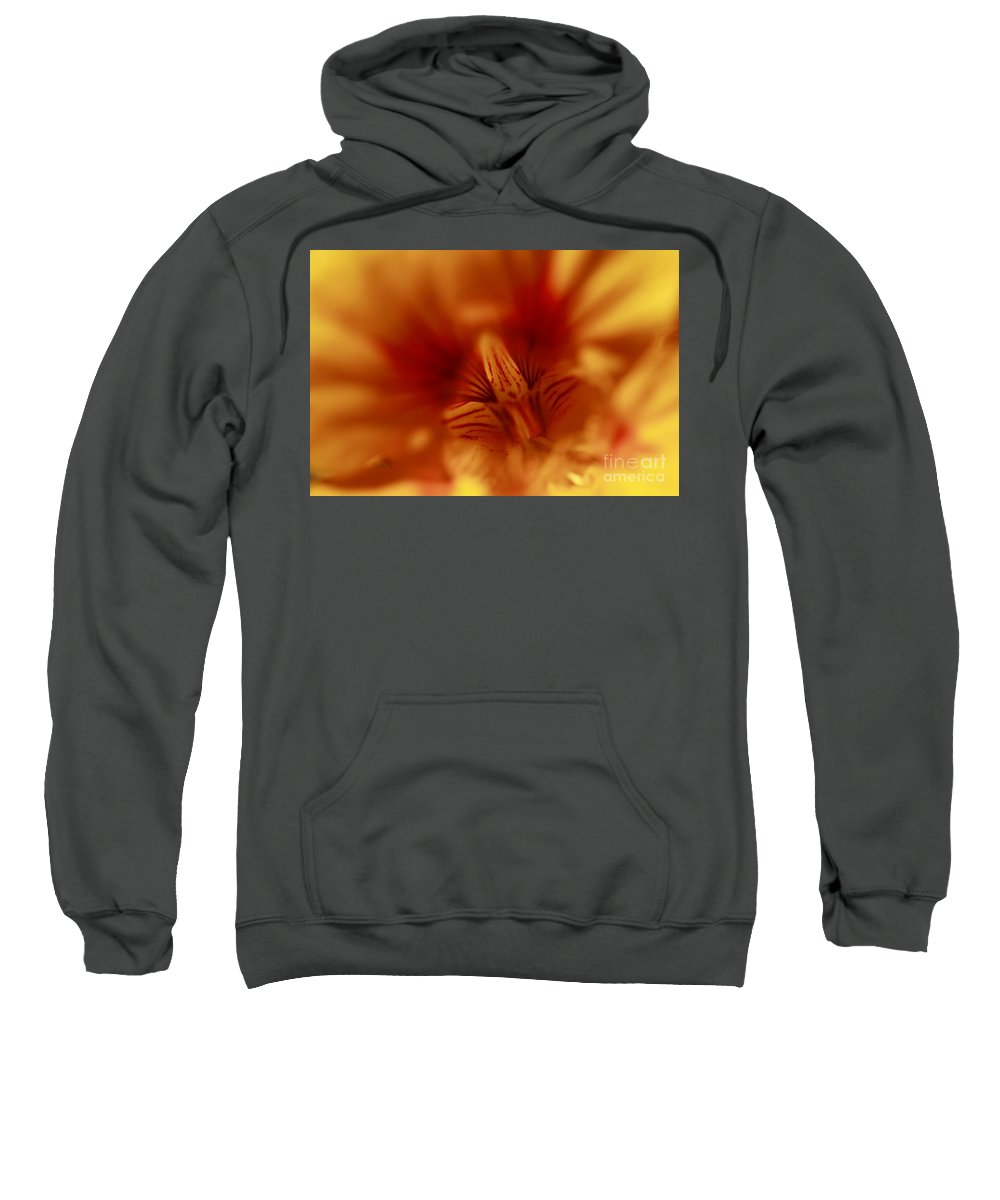 Florals Sweatshirt featuring the photograph Yellow Into Red by John F Tsumas