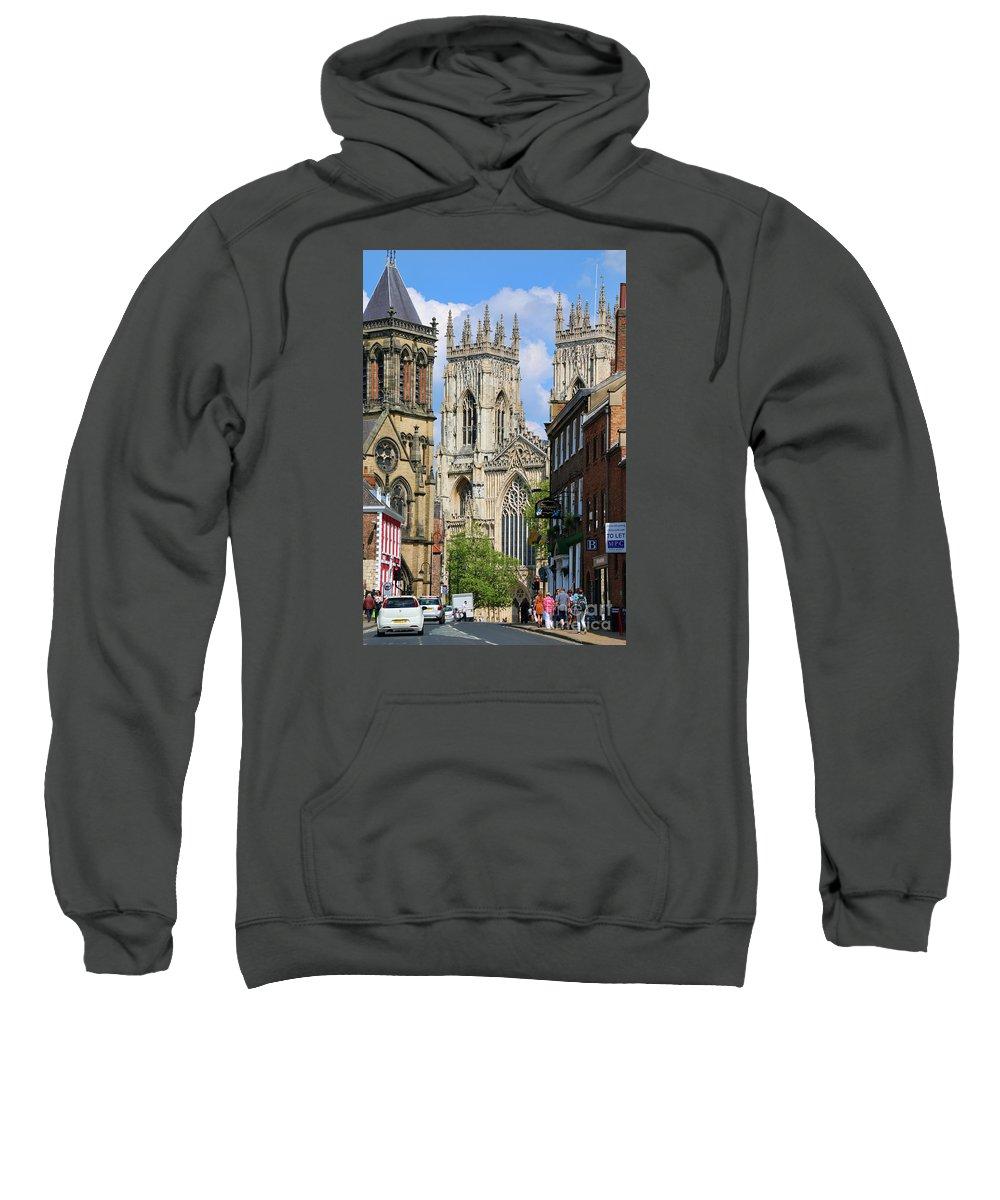 York Sweatshirt featuring the photograph York Minster 6172 by Jack Schultz