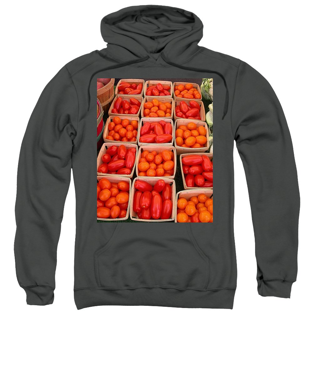 Tomato Harvest Sweatshirt featuring the photograph You Say Tomato by Cynthia Wallentine