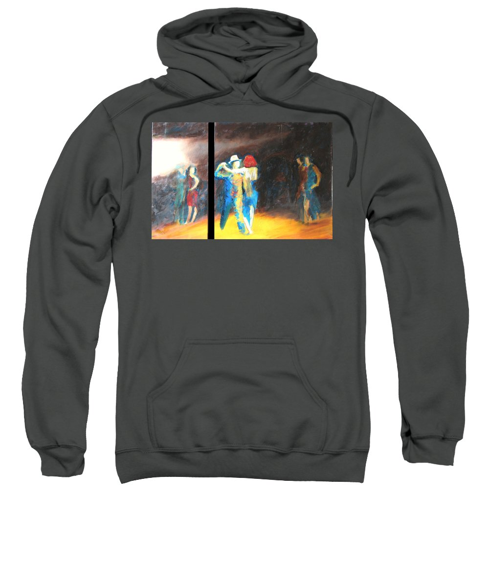 Dance Sweatshirt featuring the painting You Shine Diptych by Keith Thue