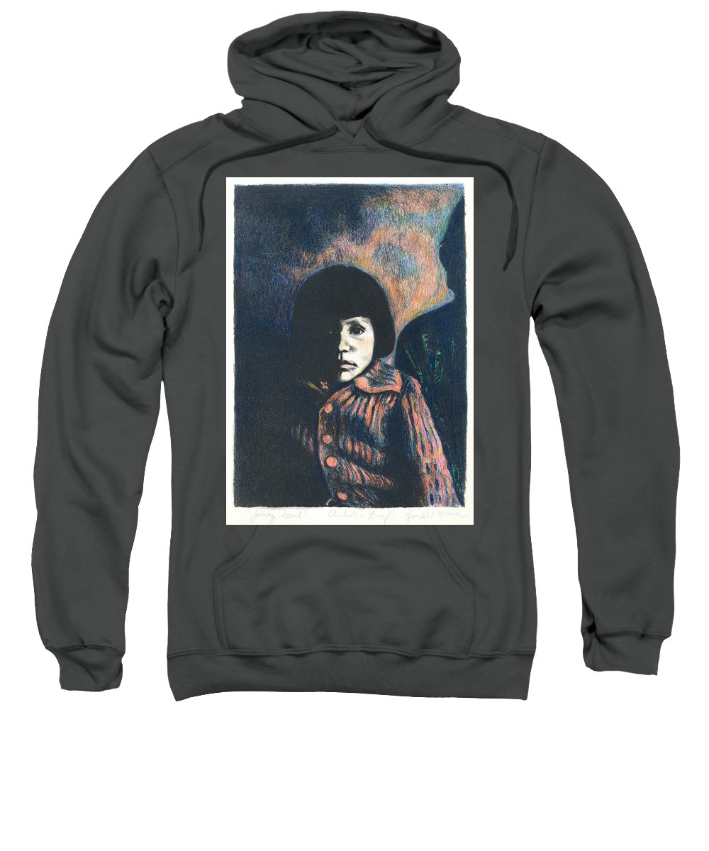 Girl Sweatshirt featuring the drawing Young Girl by Kendall Kessler