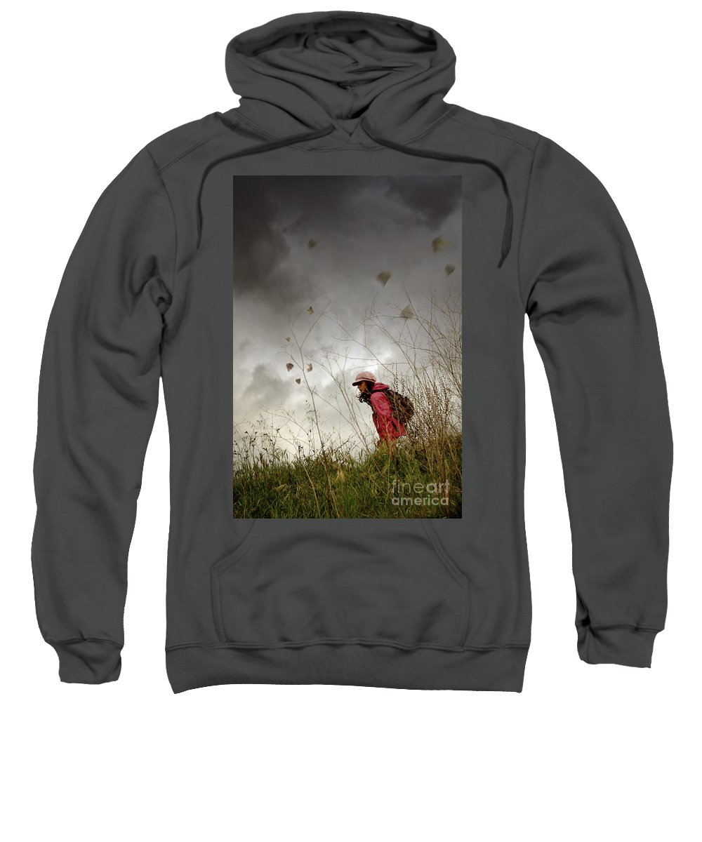 Active Sweatshirt featuring the photograph Young Walker by Carlos Caetano