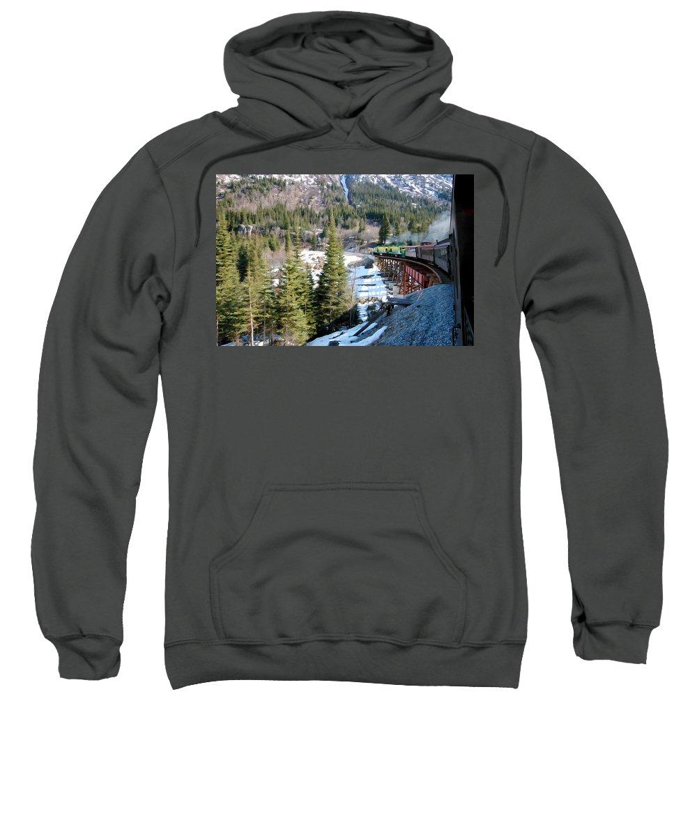 Yukon Railroad Sweatshirt featuring the photograph Yukon Railroad 3 by Tracy Winter