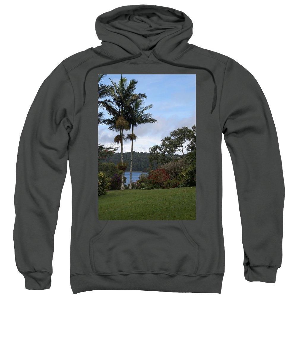 Australia Sweatshirt featuring the digital art Yungaburra Lake View by Carol Ailles