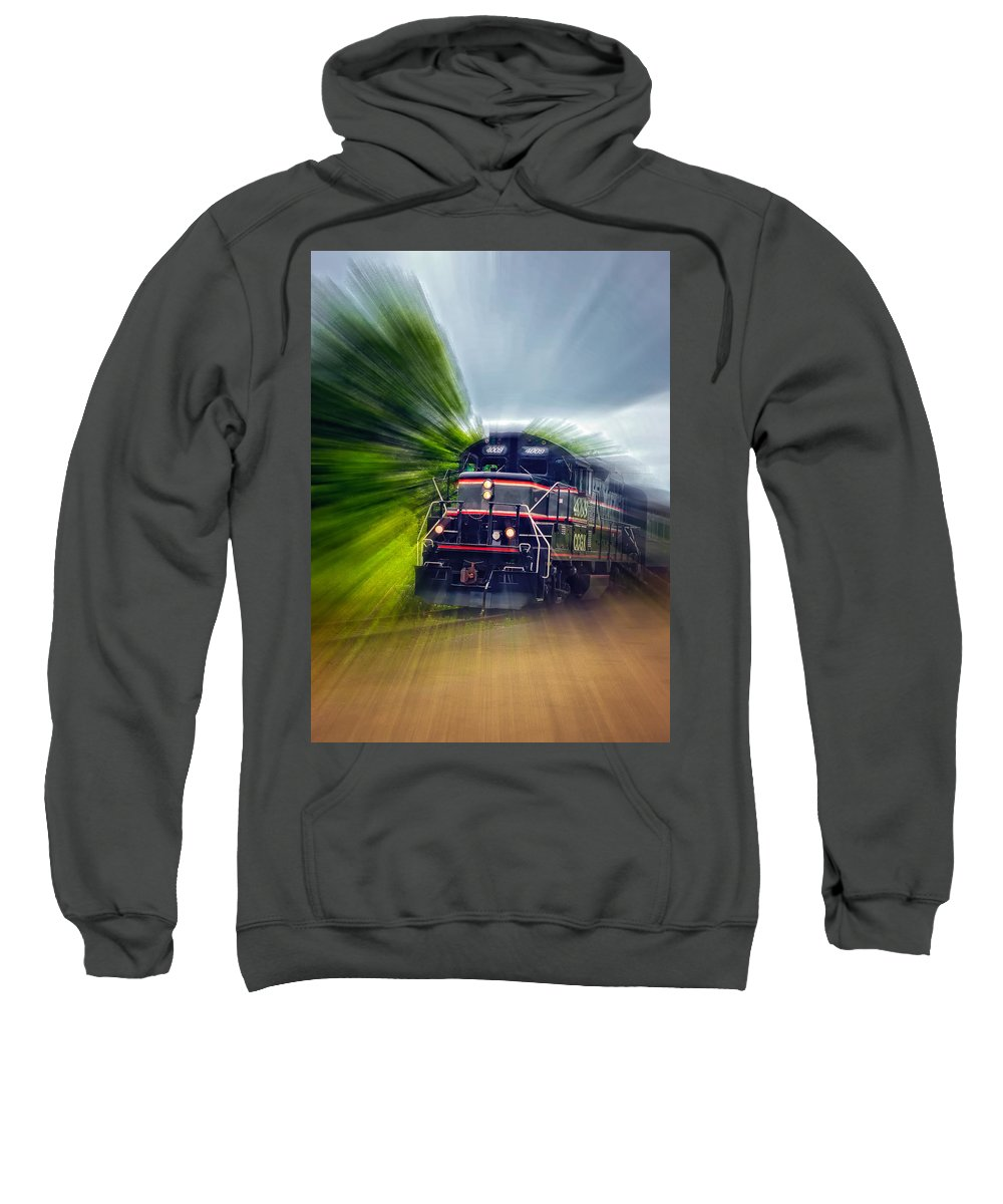 Ontario Sweatshirt featuring the photograph Zooming Through Ontario by Steve Harrington