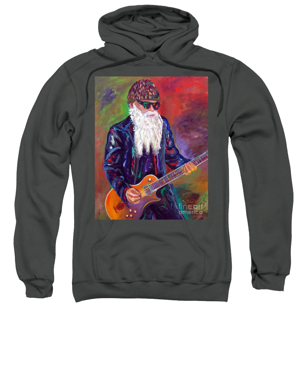Autism Sweatshirt featuring the painting Zz Top 1 by To-Tam Gerwe