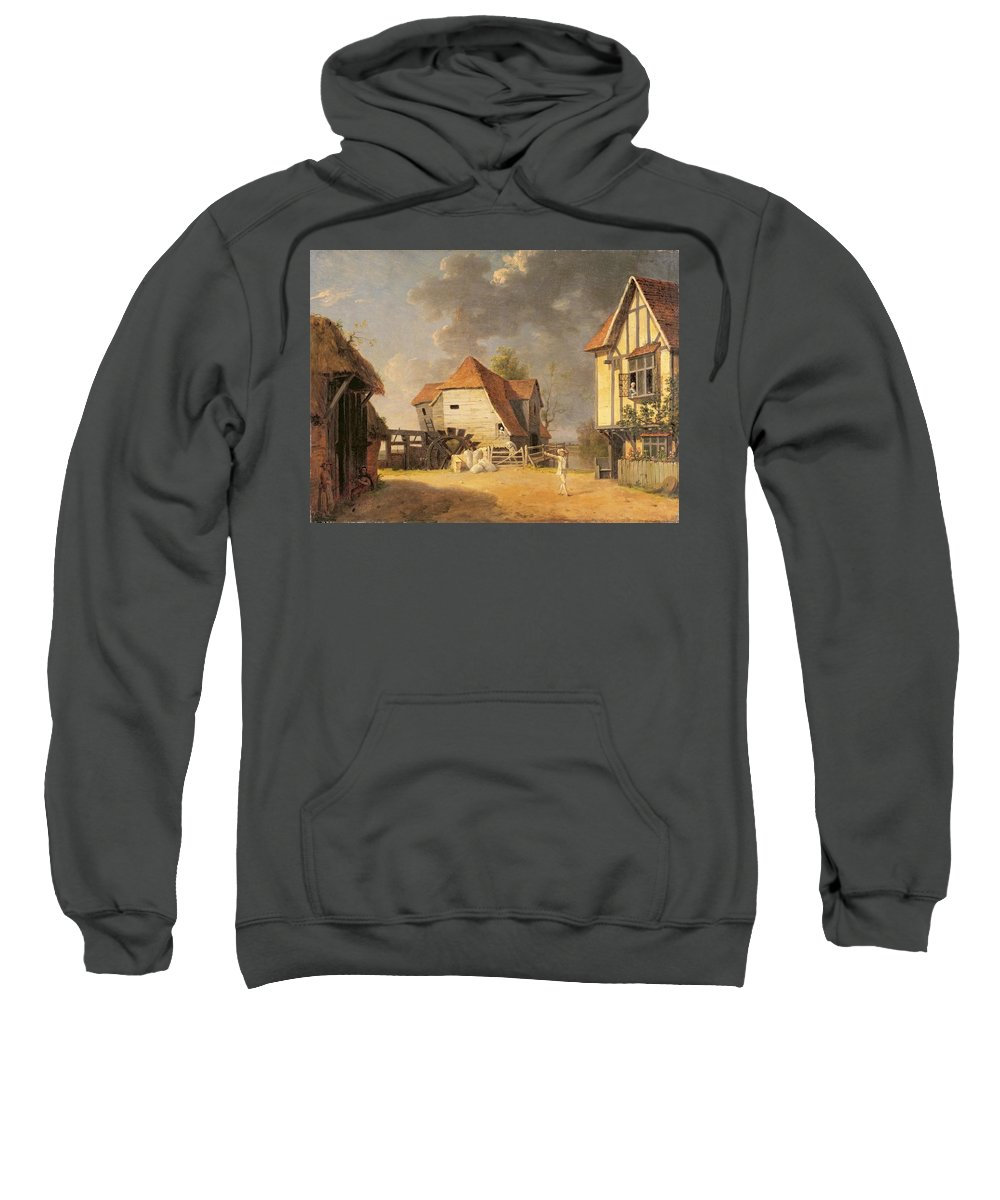 Xyc146041 Sweatshirt featuring the photograph A Scene From 'the Maid Of The Mill' by John Inigo Richards