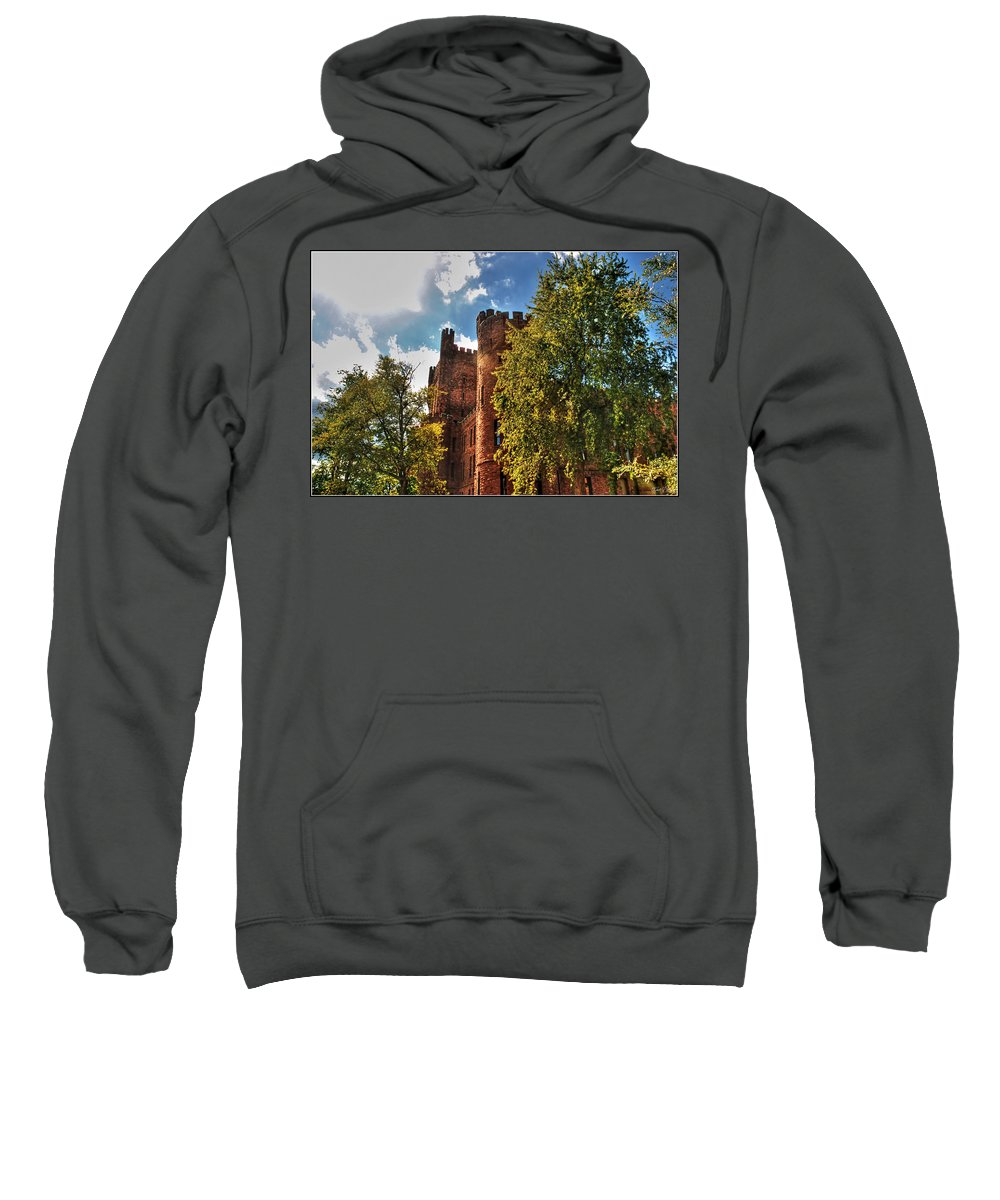 Sweatshirt featuring the photograph 001 The 74th Regimental Armory In Buffalo New York by Michael Frank Jr