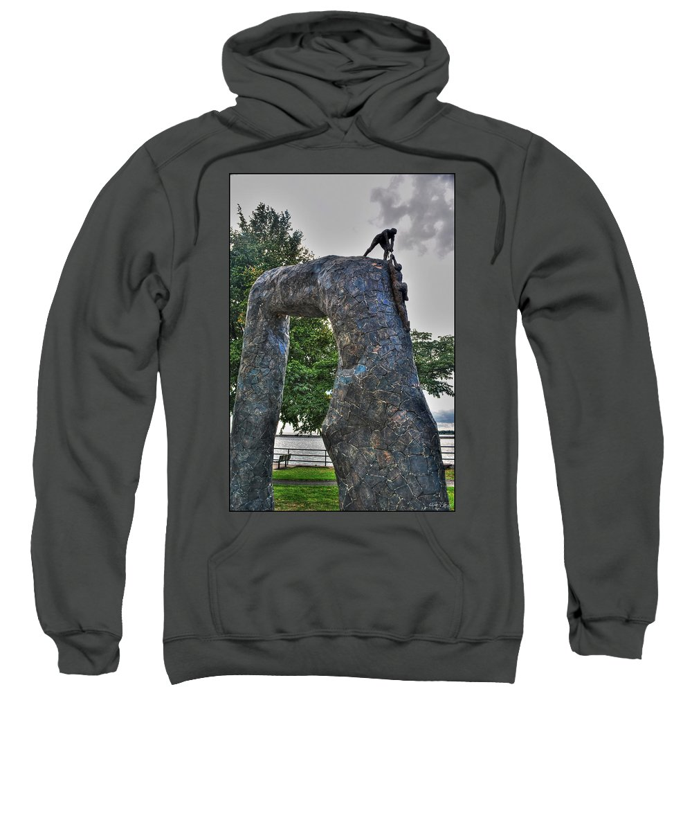 Sweatshirt featuring the photograph 004 I'll Never Let Go by Michael Frank Jr