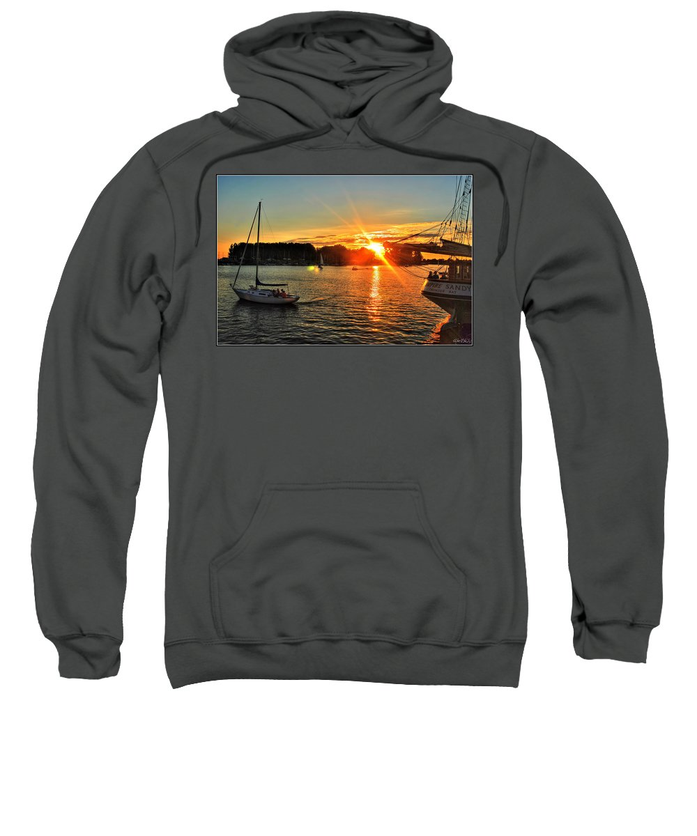 Sweatshirt featuring the photograph 005 Empire Sandy Series by Michael Frank Jr