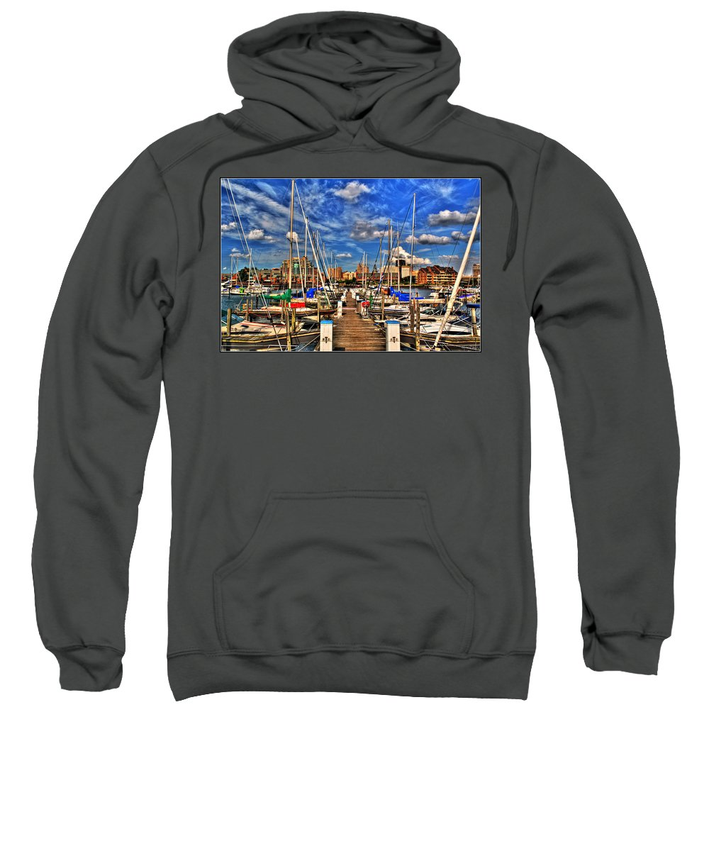 Sweatshirt featuring the photograph 005 On A Summers Day Erie Basin Marina Summer Series by Michael Frank Jr
