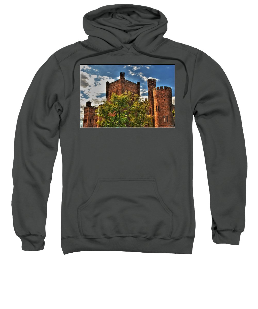 Sweatshirt featuring the photograph 007 The 74th Regimental Armory In Buffalo New York by Michael Frank Jr