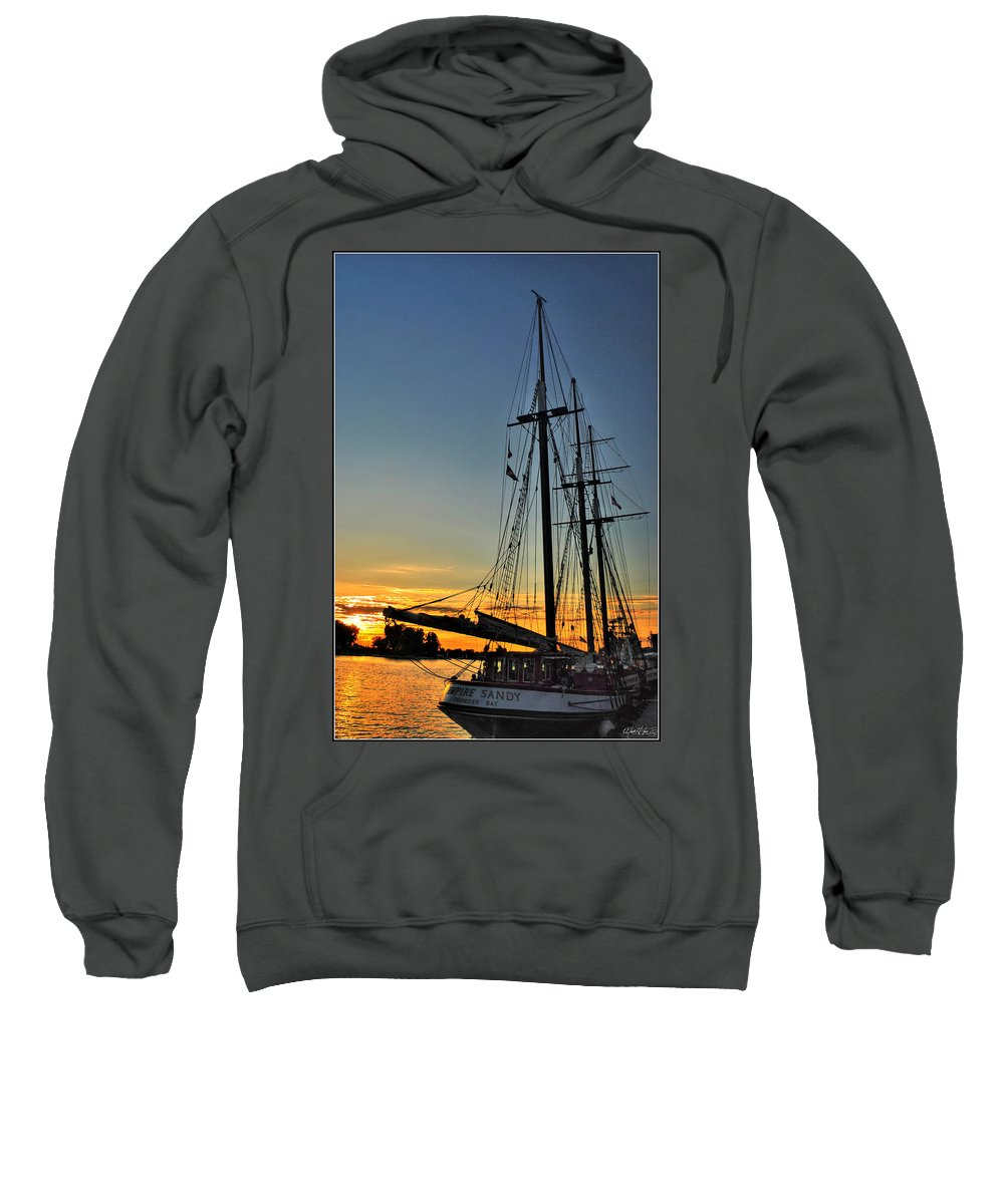 Sweatshirt featuring the photograph 009 Empire Sandy Series by Michael Frank Jr