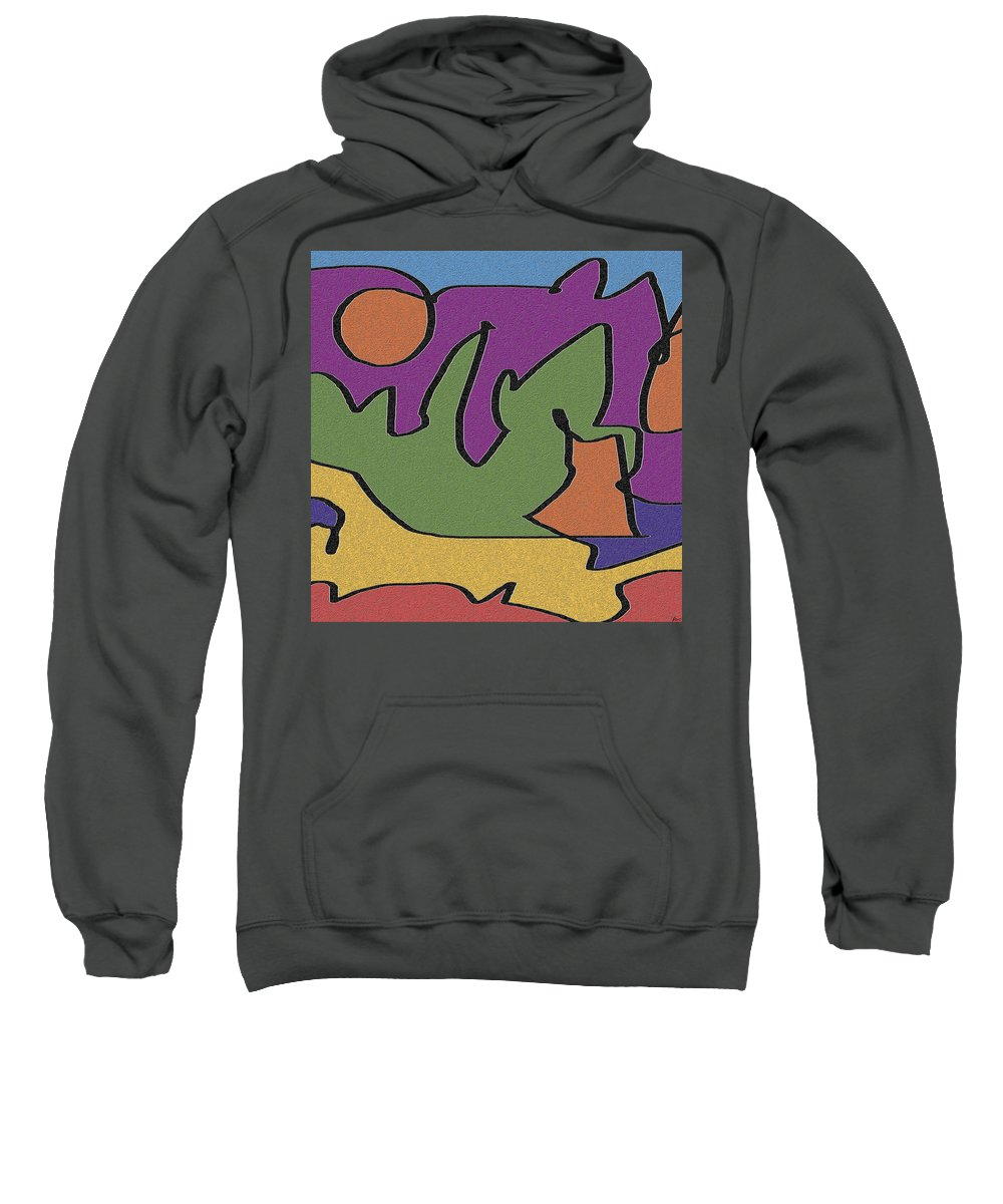 Abstract Sweatshirt featuring the digital art 0638 Abstract Thought by Chowdary V Arikatla