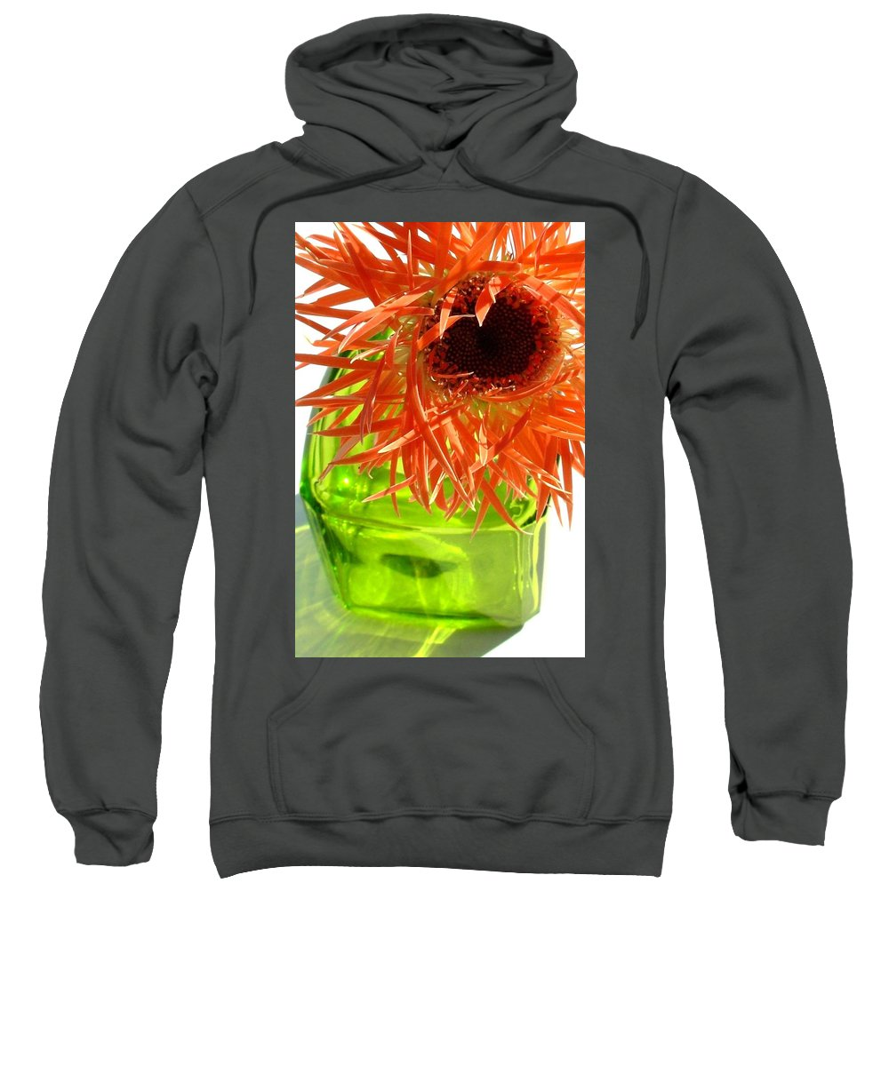 Gerbera Photographs Sweatshirt featuring the photograph 0690c-012 by Kimberlie Gerner