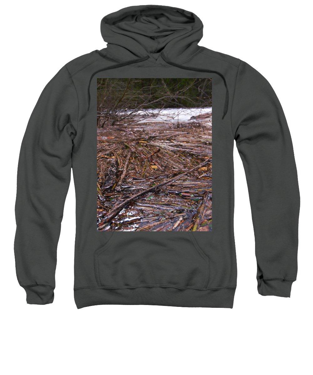 Lehtokukka Sweatshirt featuring the photograph Abstract Flood by Jouko Lehto