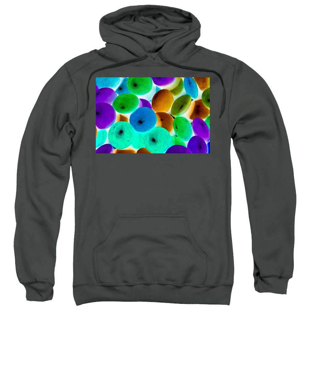 Negative Sweatshirt featuring the digital art Abstract Negative Art by David Pyatt