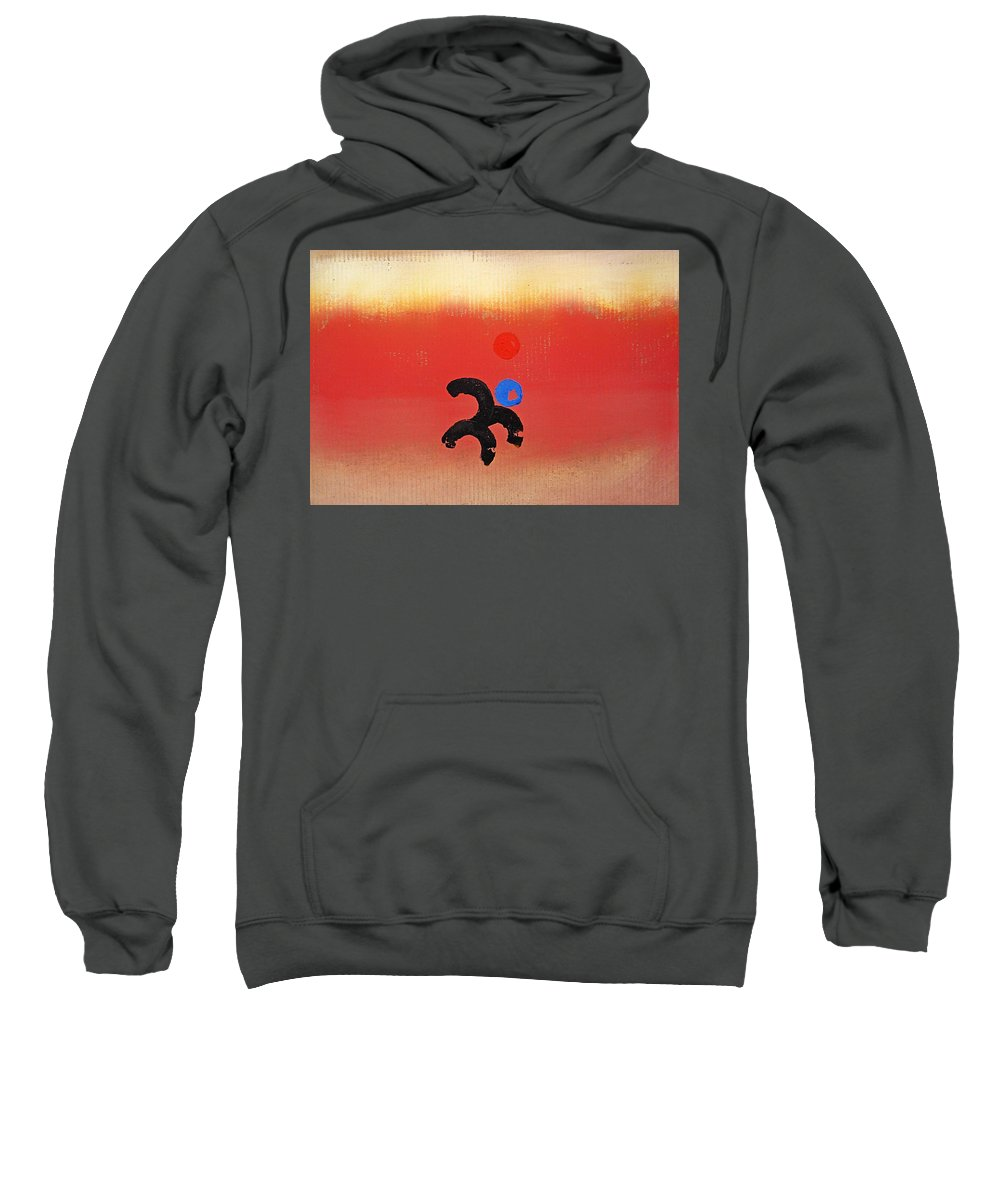 Africa Sweatshirt featuring the painting African Figure by Charles Stuart