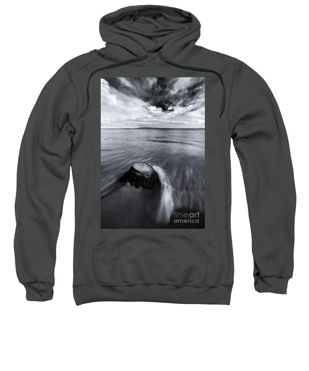 Beach Sweatshirt featuring the photograph Against The Tides by Mike Dawson