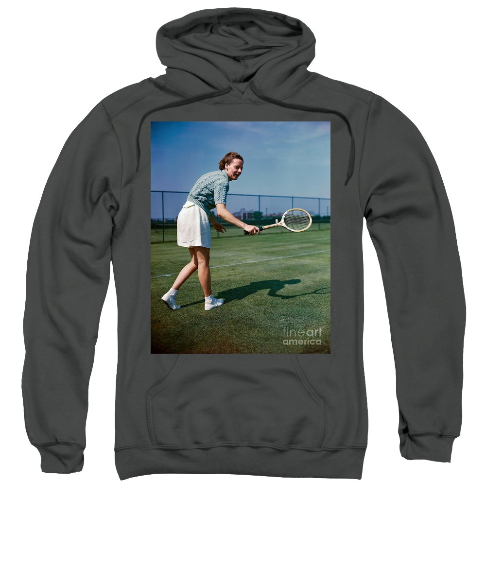 1940s Sweatshirt featuring the photograph Alice Marble (1913-1990) by Granger