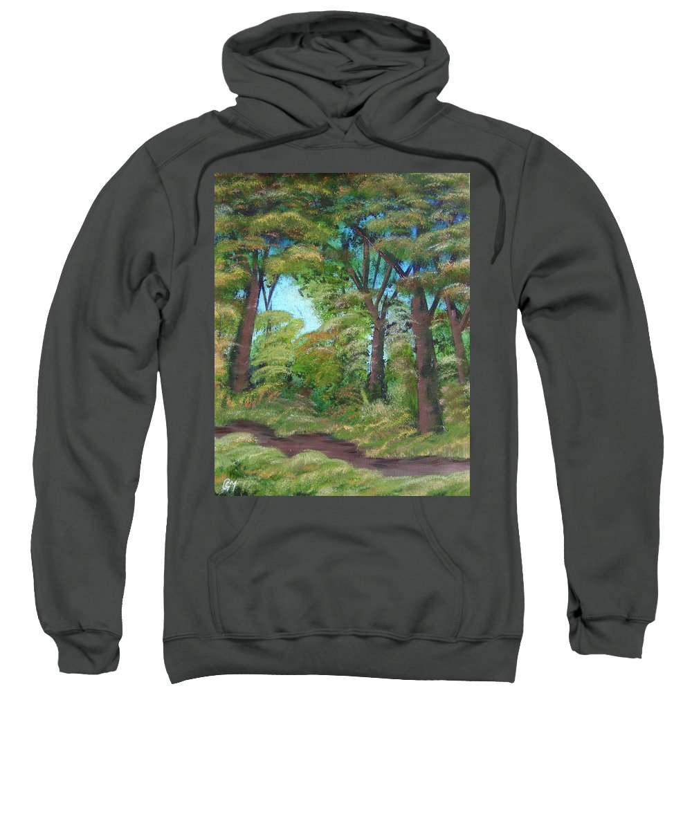 Autumn Sweatshirt featuring the painting Autumn Evening by Charles and Melisa Morrison