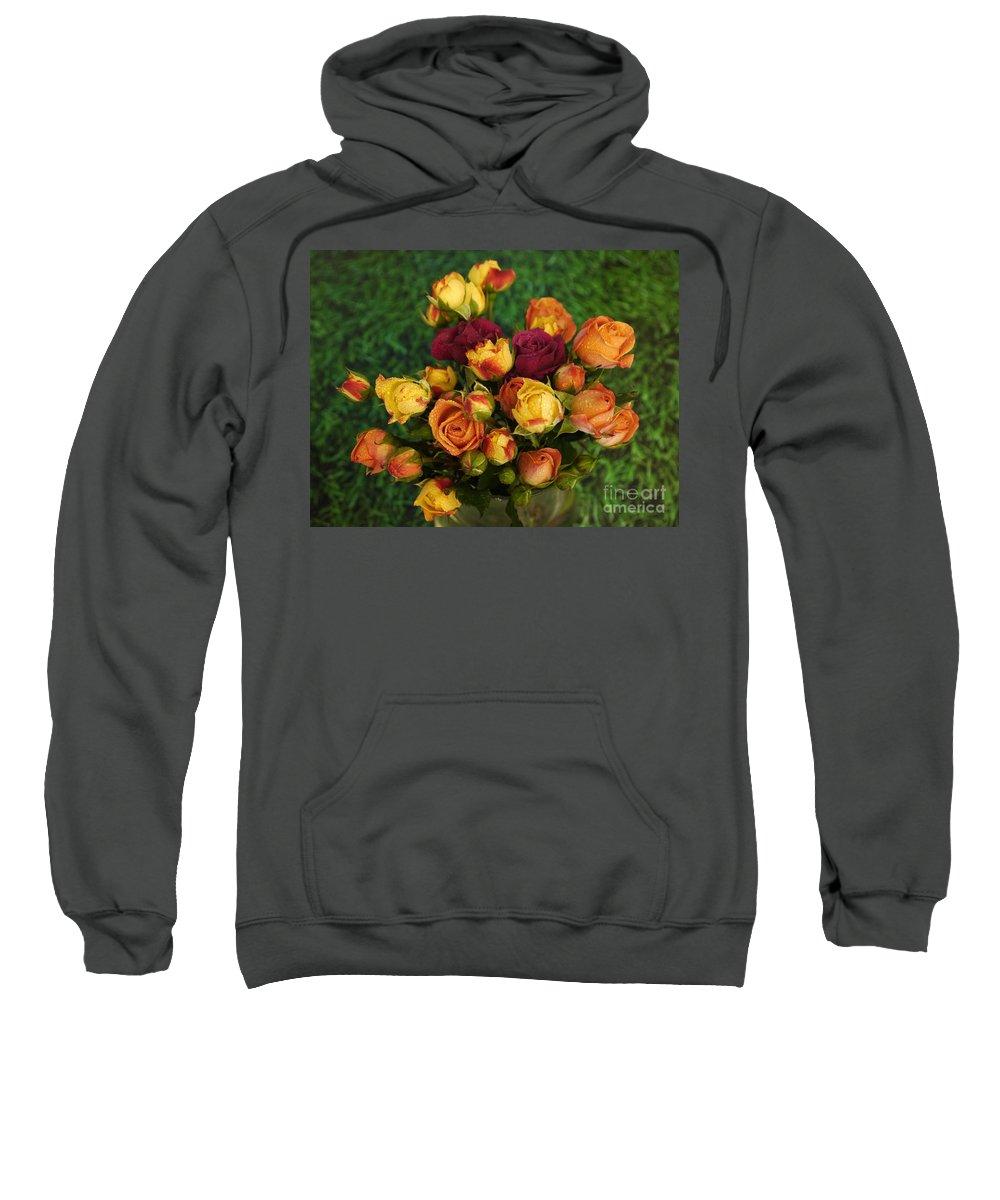 Rose Sweatshirt featuring the photograph Beautiful Bunch by Nancie DeMellia