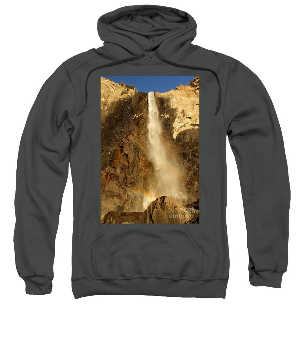 Yosemite National Park Sweatshirt featuring the photograph Bridal Veil Falls At Yosemite by Adam Jewell