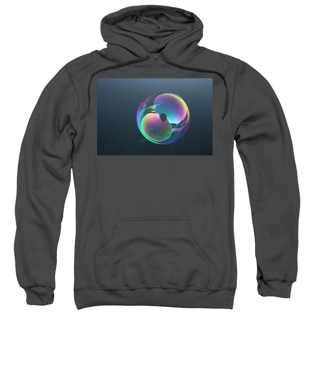 Bubble Sweatshirt featuring the photograph Bubble Jewel by Cathie Douglas